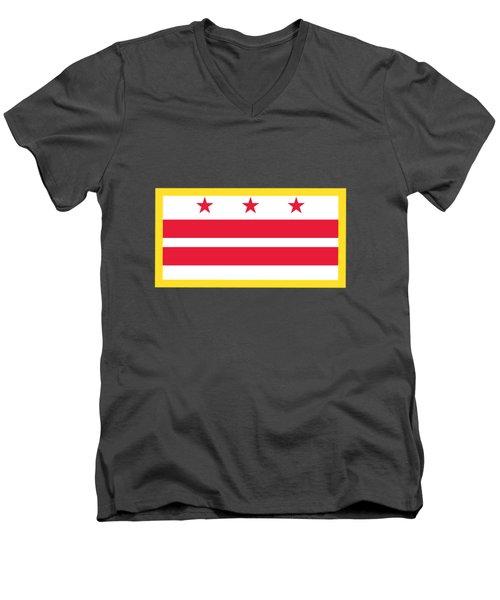 Washington, D.c. Flag Men's V-Neck T-Shirt by Frederick Holiday