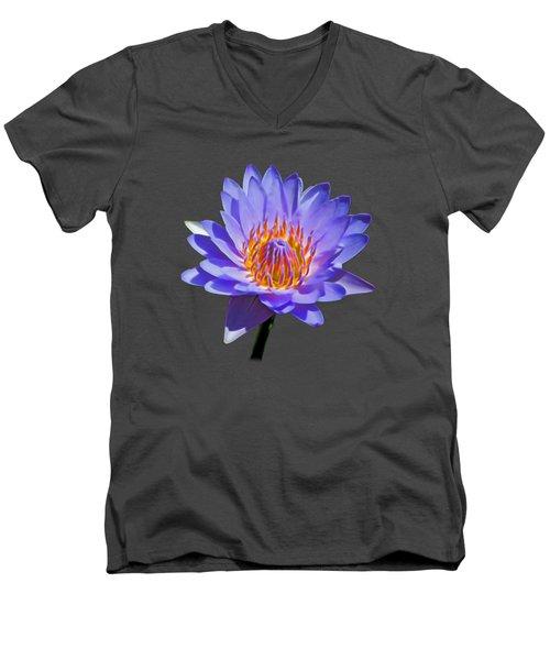 Water Lily Men's V-Neck T-Shirt by Pamela Walton