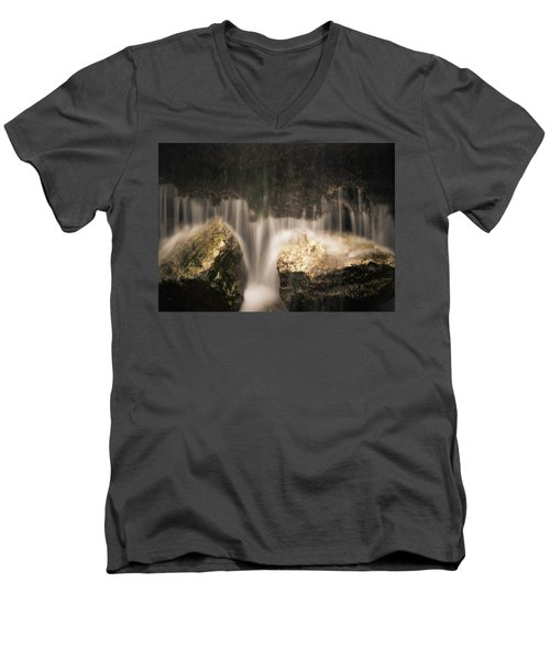 Waterfall Detail Men's V-Neck T-Shirt by Scott Meyer