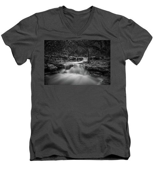 Waterfall In Austin Texas Men's V-Neck T-Shirt