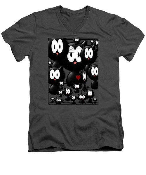 We Are Family Men's V-Neck T-Shirt by Tina M Wenger
