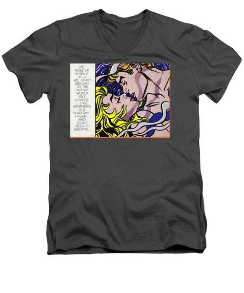 We Rose Up Slowly Men's V-Neck T-Shirt