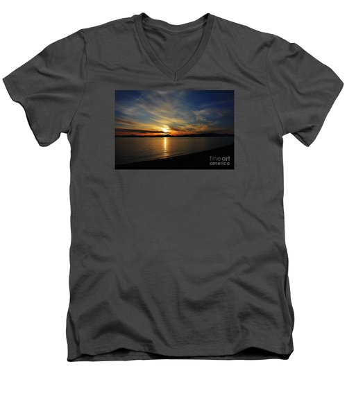 Welcome Beach 2015 3 Men's V-Neck T-Shirt by Elaine Hunter