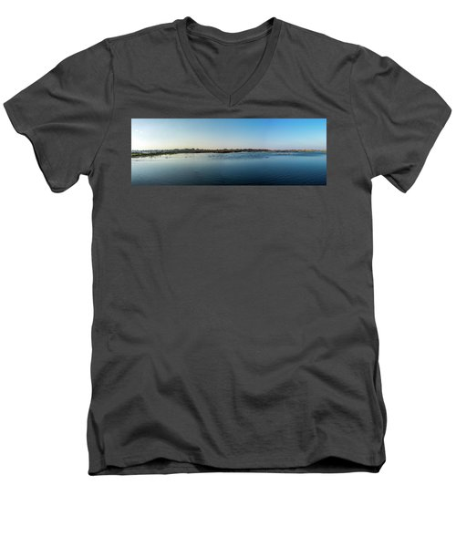 Wetlands Panorama  Men's V-Neck T-Shirt