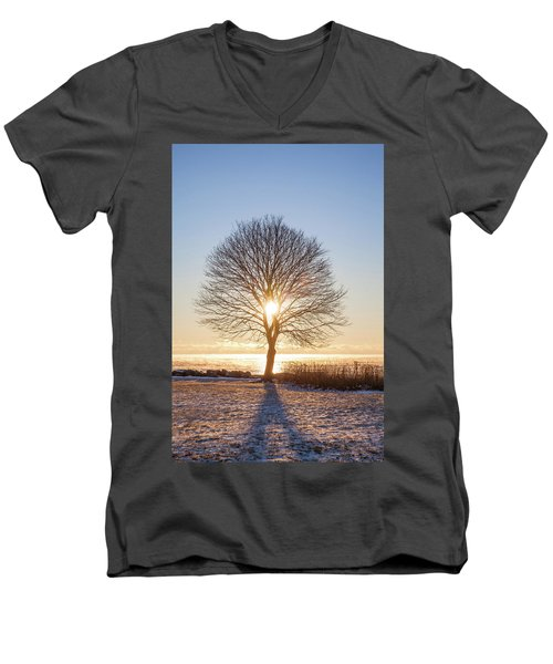 Men's V-Neck T-Shirt featuring the photograph Whaleback Sunrise by Robert Clifford