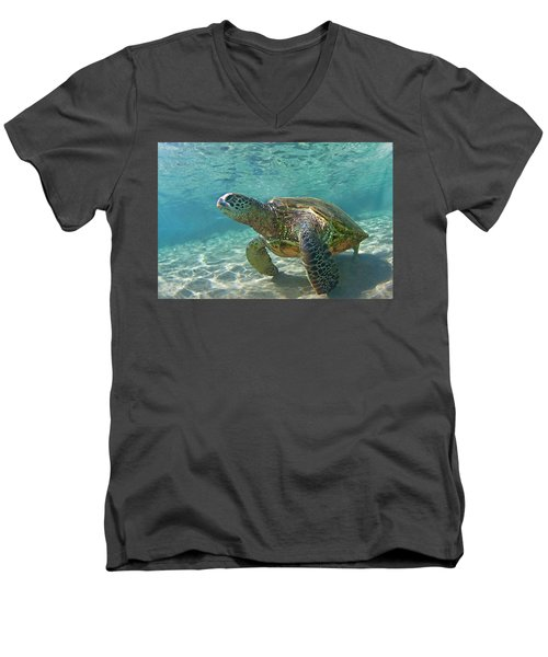 What Are You Lookin At Men's V-Neck T-Shirt by James Roemmling