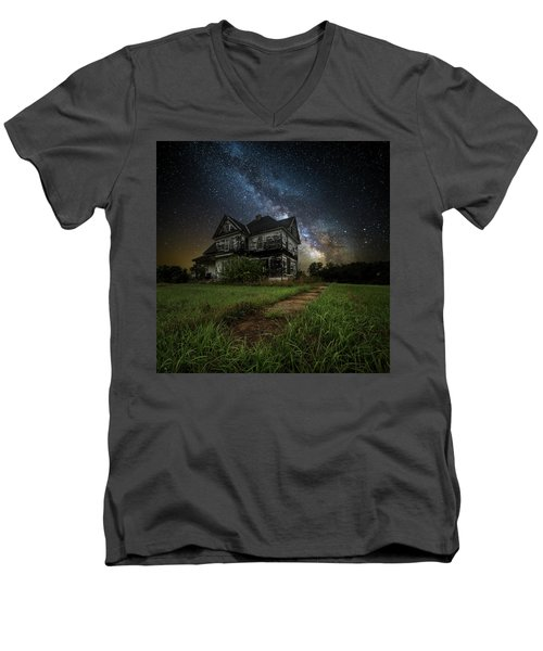 Men's V-Neck T-Shirt featuring the photograph What Once Was by Aaron J Groen