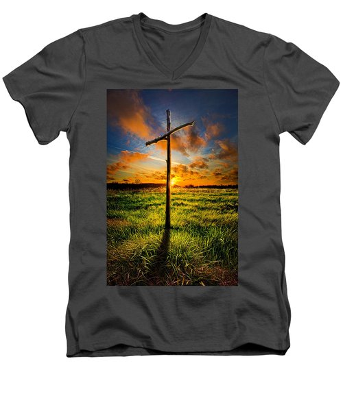 What Will Be Will Be Men's V-Neck T-Shirt by Phil Koch