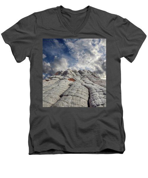 Men's V-Neck T-Shirt featuring the photograph Where Heaven Meets Earth 2 by Bob Christopher