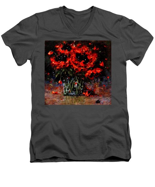 Whispers Of Love  Men's V-Neck T-Shirt by Cristina Mihailescu