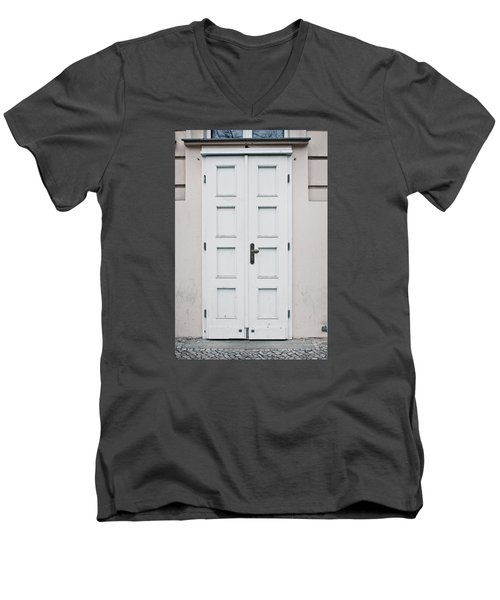 White Door Men's V-Neck T-Shirt