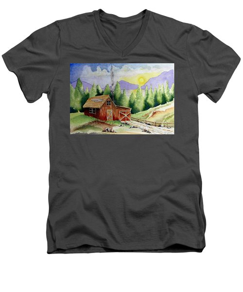 Wilderness Cabin Men's V-Neck T-Shirt