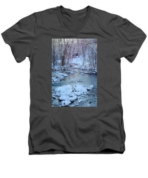 Men's V-Neck T-Shirt featuring the photograph Winter Wonderland by Dacia Doroff