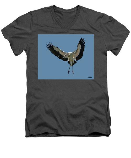 Wood Stork Men's V-Neck T-Shirt