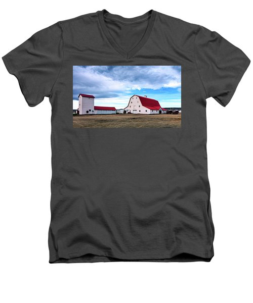 Wyoming Ranch Men's V-Neck T-Shirt by L O C