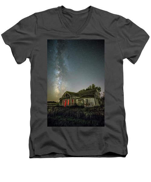 Men's V-Neck T-Shirt featuring the photograph Yale by Aaron J Groen