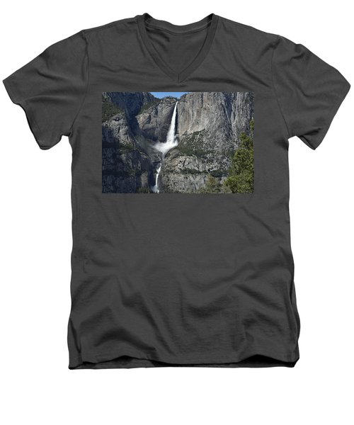 Yosemite Falls From The Four Mile Trail Men's V-Neck T-Shirt
