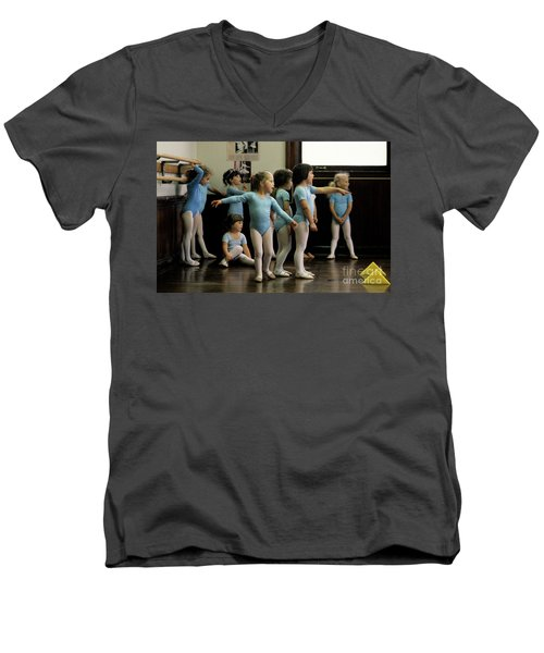 Young Ballet Dancers  Men's V-Neck T-Shirt