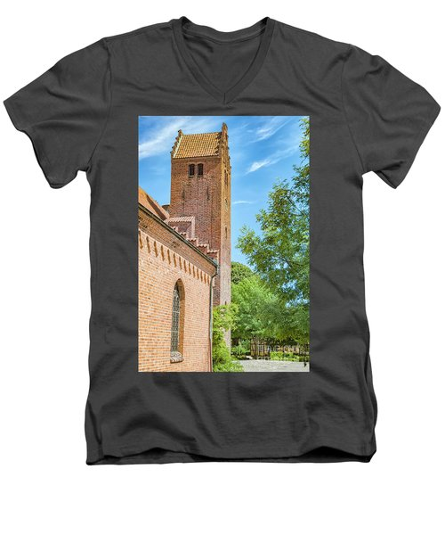Men's V-Neck T-Shirt featuring the photograph Ystad Monastery In Sweden by Antony McAulay