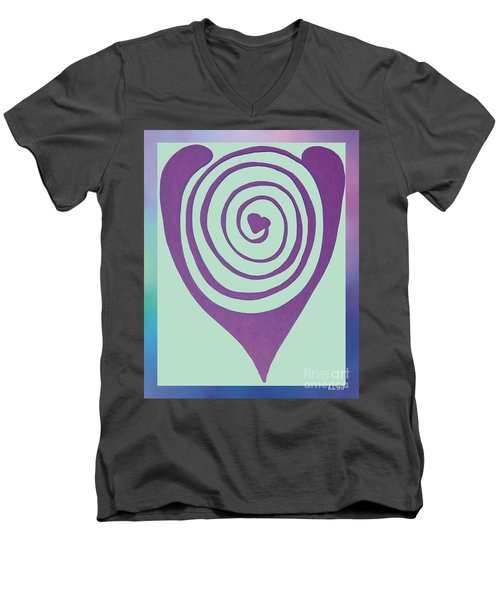 Zen Heart Labyrinth Path Men's V-Neck T-Shirt