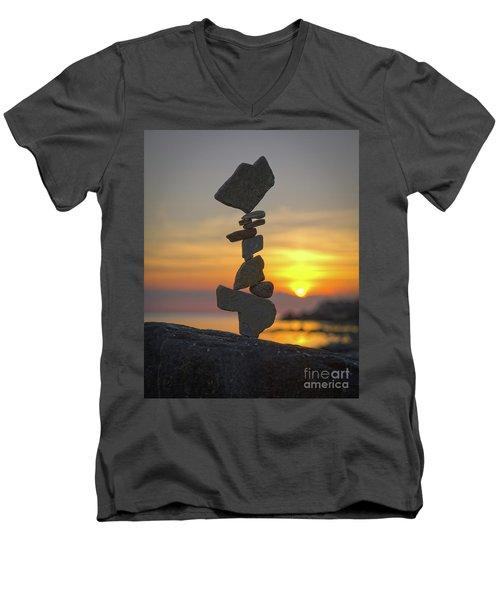 Zen. Men's V-Neck T-Shirt
