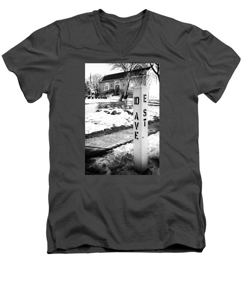 10 Ave And E St Belmar New Jersey Men's V-Neck T-Shirt