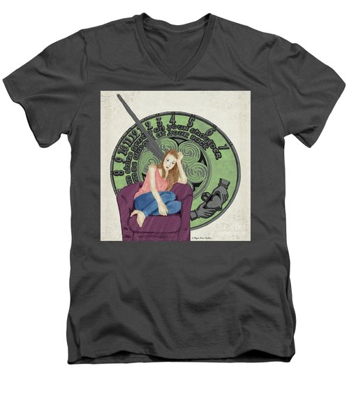 10 Months Men's V-Neck T-Shirt by Megan Dirsa-DuBois