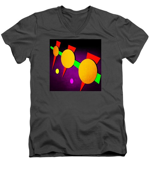 Men's V-Neck T-Shirt featuring the digital art 104 by Timothy Bulone
