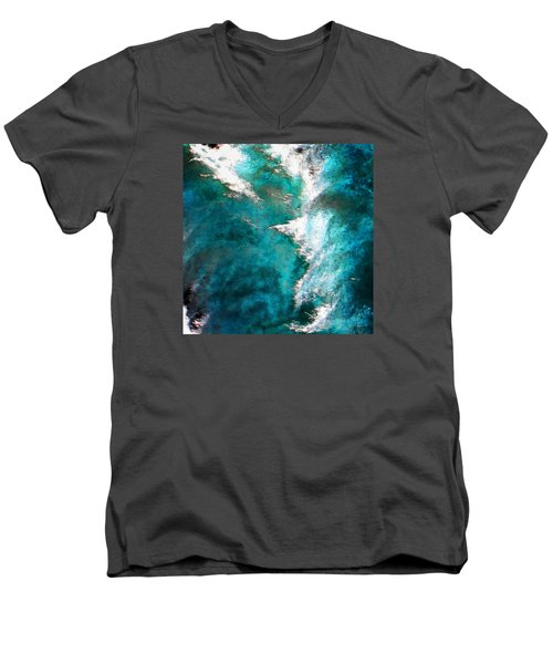 Men's V-Neck T-Shirt featuring the photograph 107 by Timothy Bulone