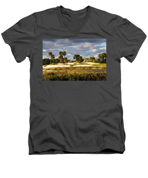 18th Hole Men's V-Neck T-Shirt