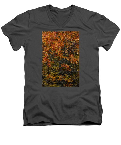 Men's V-Neck T-Shirt featuring the photograph Fall Color Virginia West Virginia by Kevin Blackburn