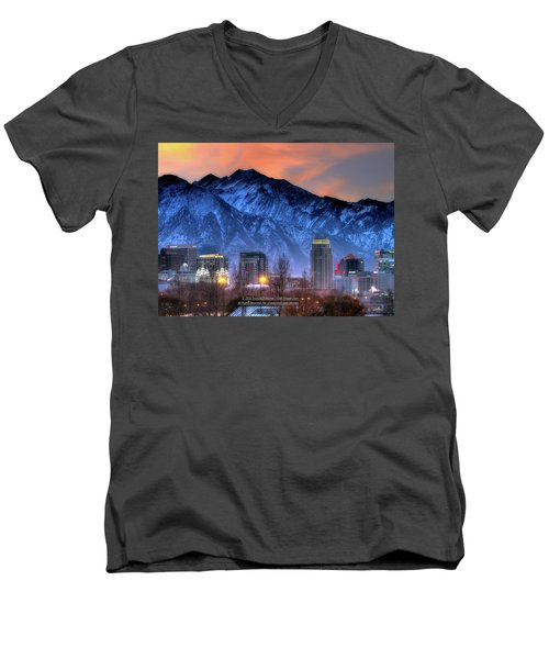Salt Lake City Skyline Men's V-Neck T-Shirt
