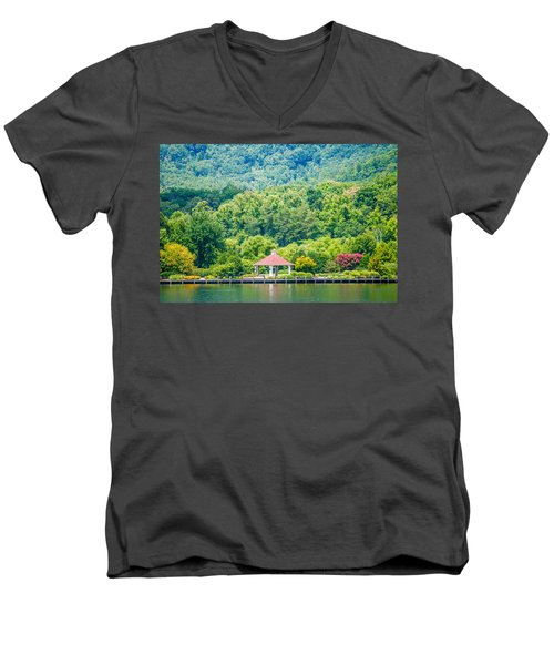 Scenery Around Lake Lure North Carolina Men's V-Neck T-Shirt