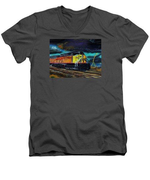 122415 East Bound Men's V-Neck T-Shirt by Garland Oldham