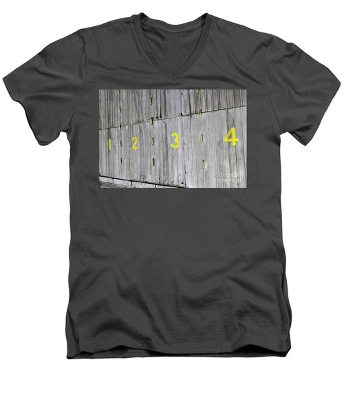 Men's V-Neck T-Shirt featuring the photograph 1234 by Stephen Mitchell