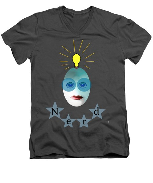 1282 - Nerd T Shirt Design Men's V-Neck T-Shirt