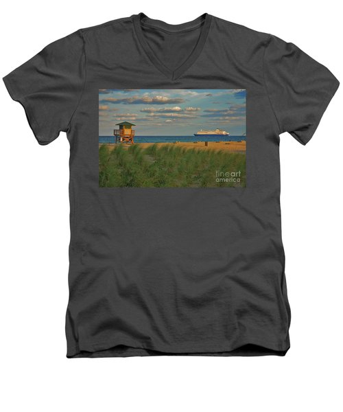 Men's V-Neck T-Shirt featuring the photograph 13- Cruising In Paradise by Joseph Keane