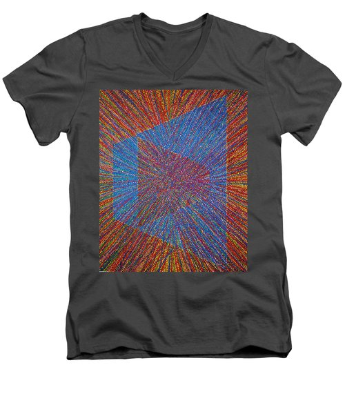 Mobius Band Men's V-Neck T-Shirt by Kyung Hee Hogg