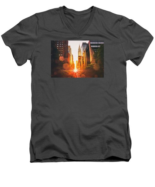 New York City Men's V-Neck T-Shirt by Vivienne Gucwa