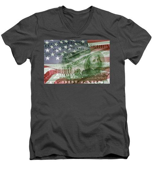Usa Finance Men's V-Neck T-Shirt
