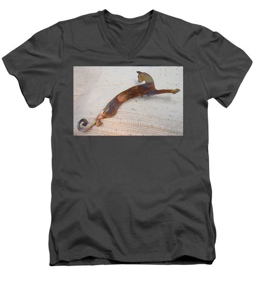 1375 Stealth Cat Men's V-Neck T-Shirt