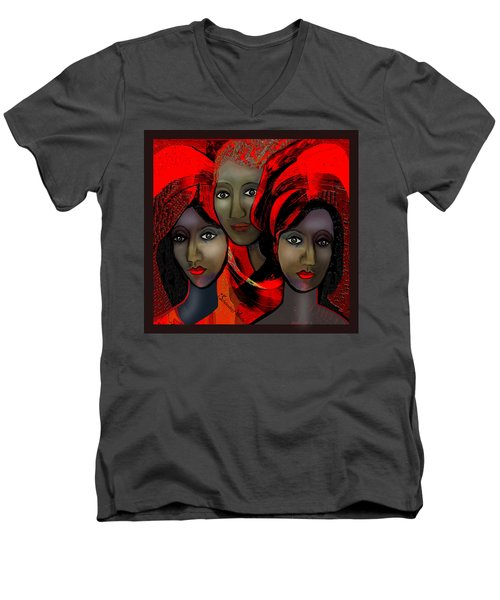 1387 - Harem Fantasy - 2017 Men's V-Neck T-Shirt by Irmgard Schoendorf Welch