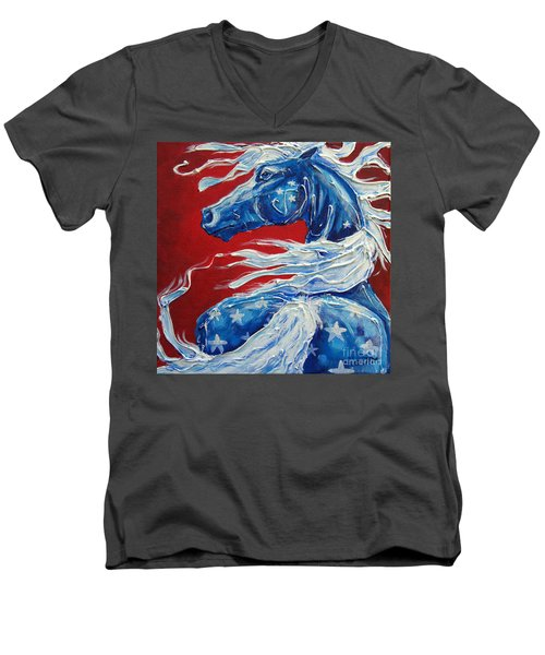 #14 July 4th Men's V-Neck T-Shirt