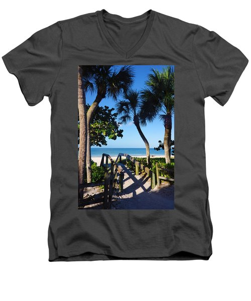 14th Ave S Beach Access Ramp - Naples Fl Men's V-Neck T-Shirt