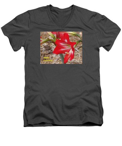 Christmas Card Men's V-Neck T-Shirt by Rod Ismay
