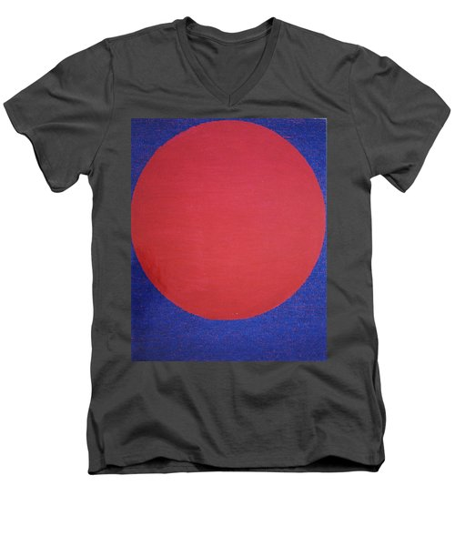 Men's V-Neck T-Shirt featuring the painting Perfect Existence by Kyung Hee Hogg
