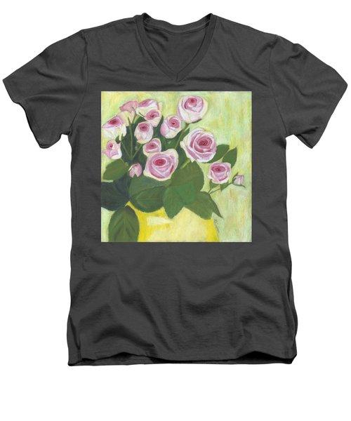 15 Pinks Men's V-Neck T-Shirt by Arlene Crafton