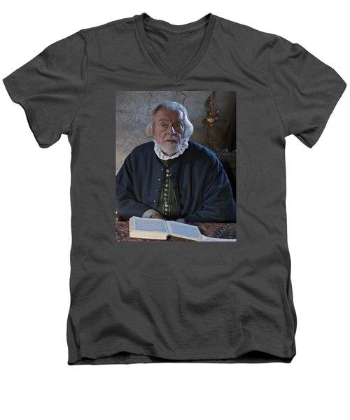 1600's Pilgrim Men's V-Neck T-Shirt by Stephen Flint