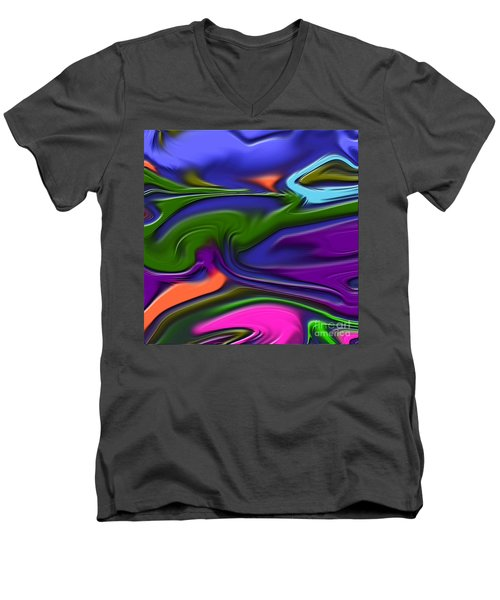 1691 Abstract Thought Men's V-Neck T-Shirt