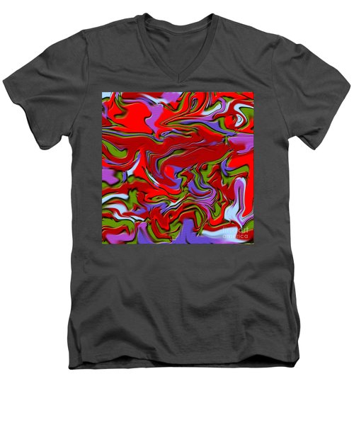 1695 Abstract Thought Men's V-Neck T-Shirt